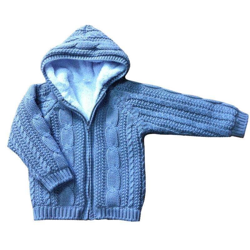 Как связать куртку с капюшоном для мальчика