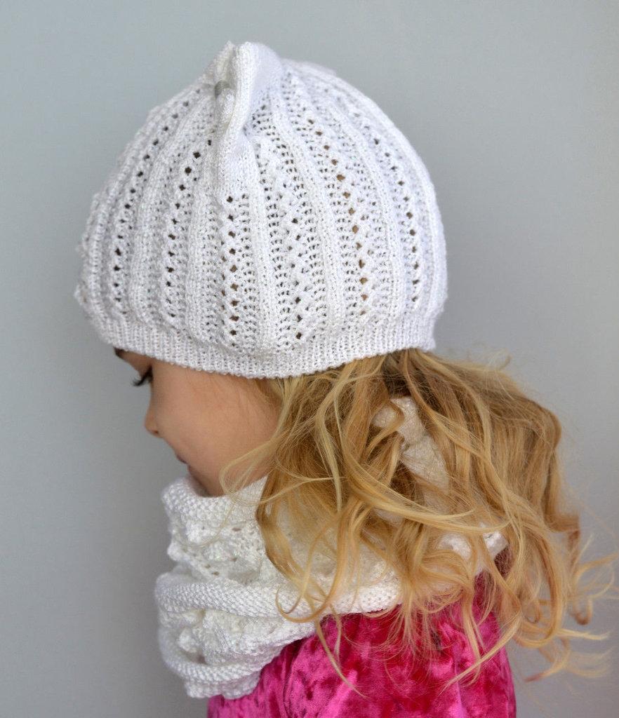 Связать шапочку девочке одним уроком