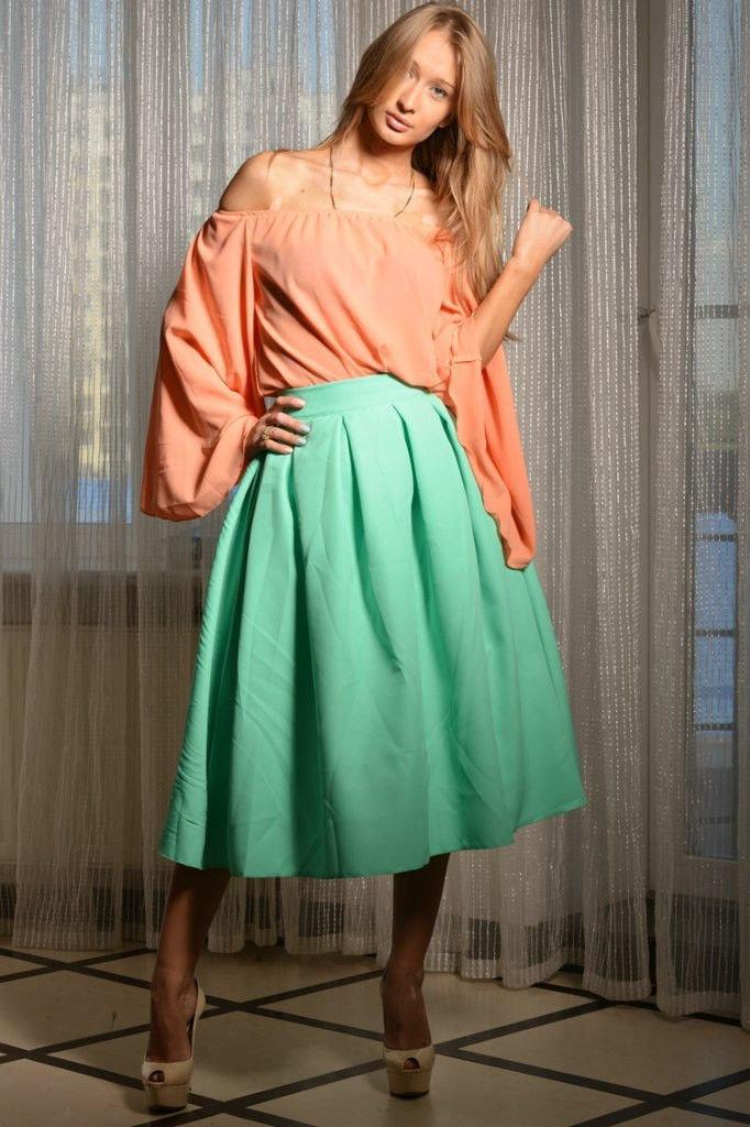 Платье колокол до колен