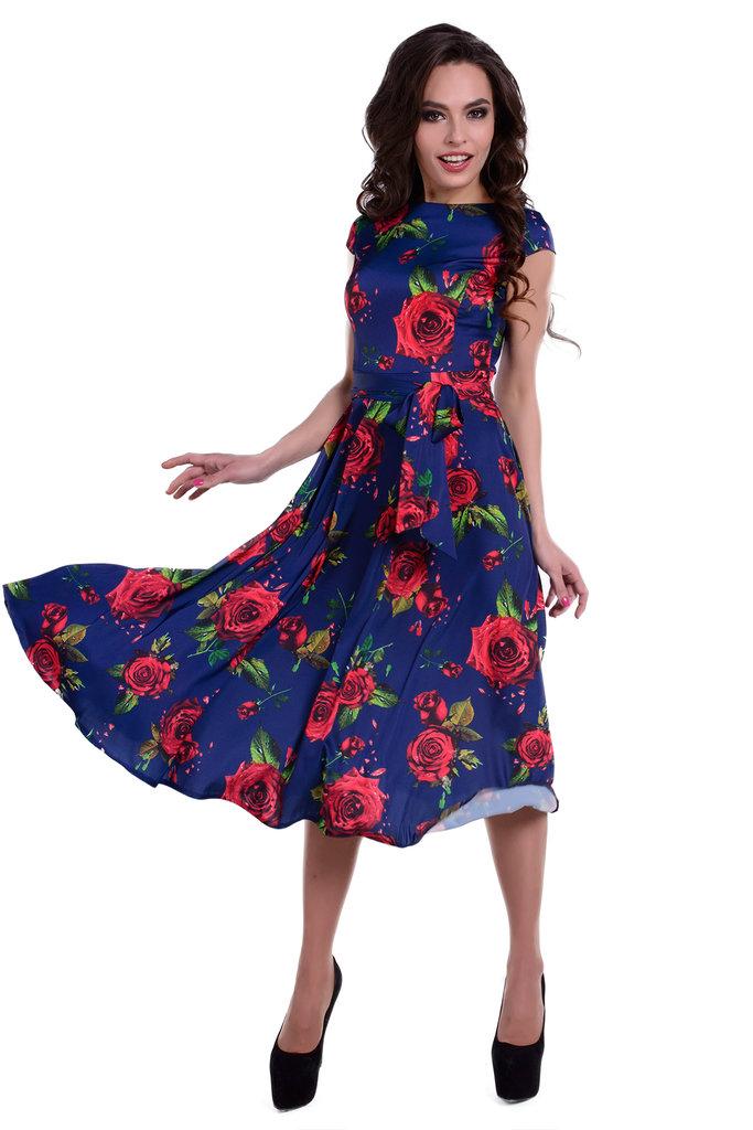 Атлас с шифоном платье