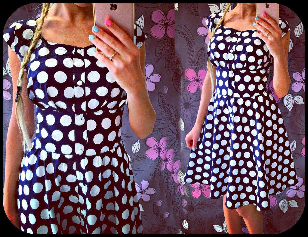 Платье своими руками в горошек