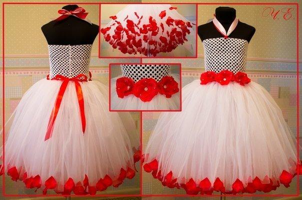 Детские юбки и платья из фатина своими руками