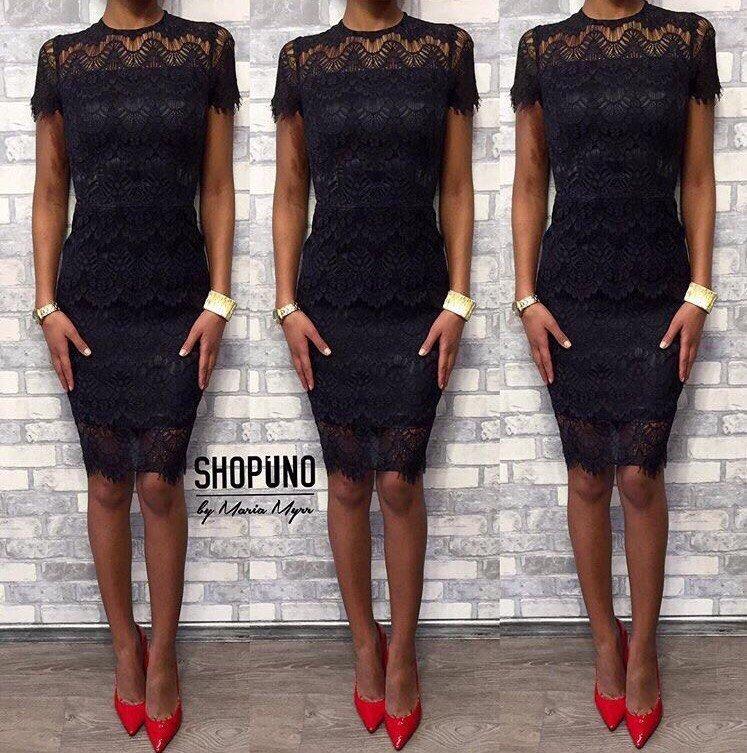 Кружево и ткань модели платья