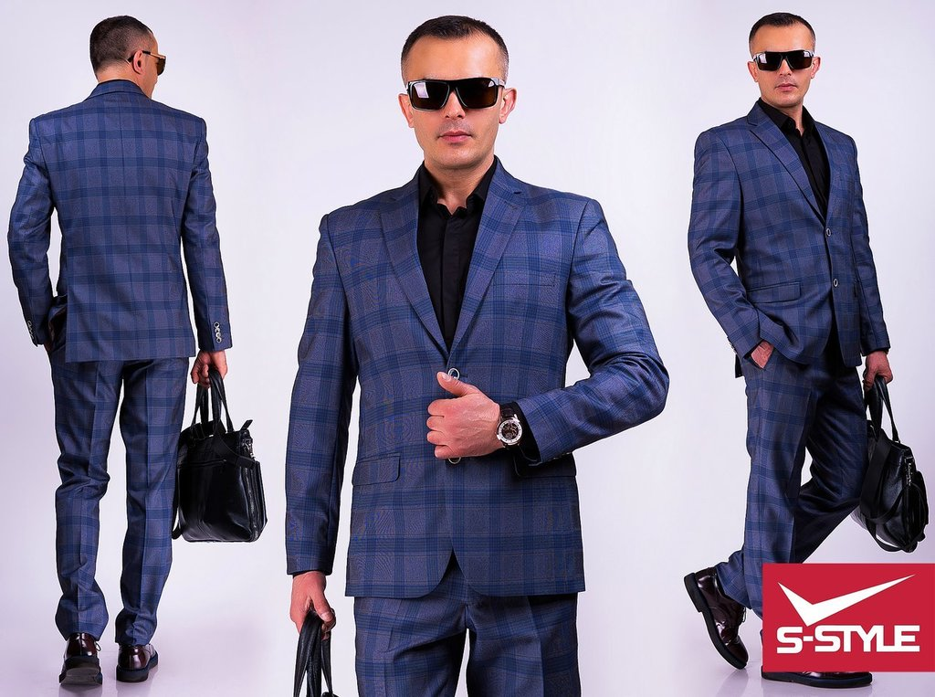 Модный деловой костюм мужской