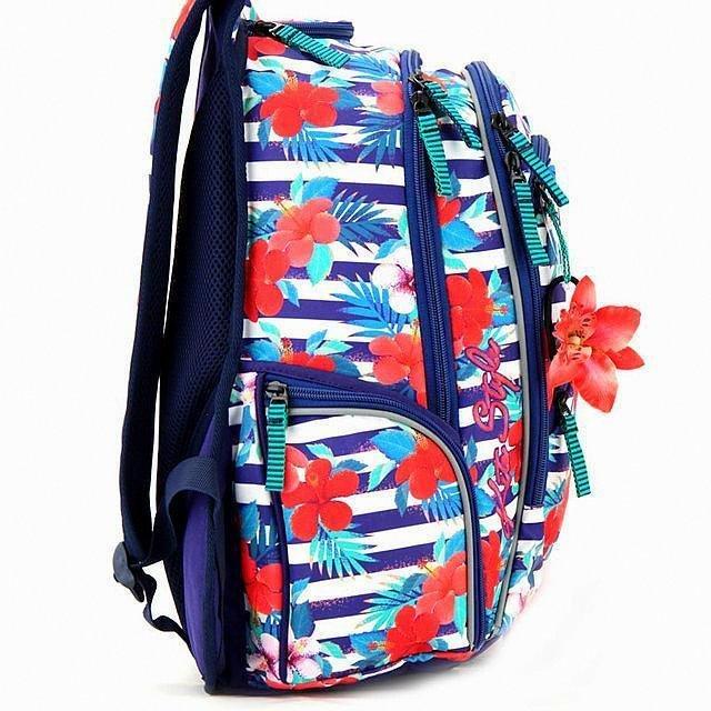 Рюкзак модный с цветочным принтом