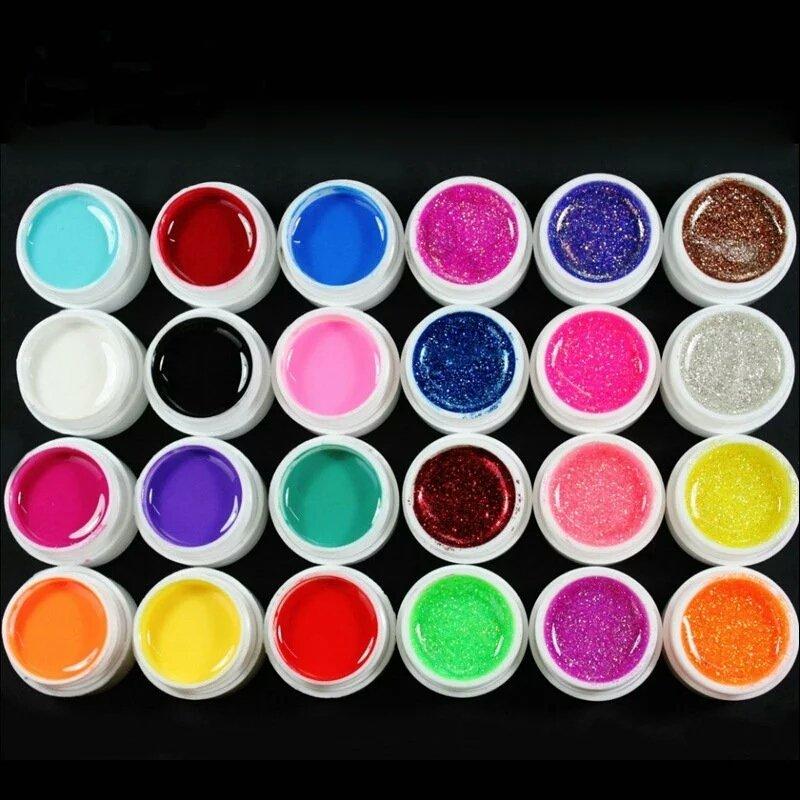 Цветные гели для ногтей использована