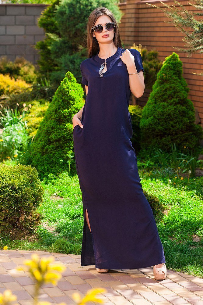Летние длинные прямые платья