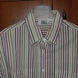 Классная рубашка в полоску, Англия, р.50-52