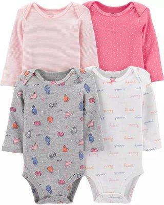 Комплекты бодиков Carters с длинным рукавом для девочек.