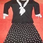 Блузка черная в горох на 44-46
