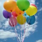 Шары гелиевые летающие круглые разноцветные, фольга