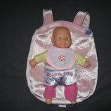 фирменный рюкзачок для пупсов и пупсы