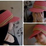 Вязанная кепка,шапка с козырьком