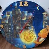 Часы настенные для детской. ручная работа.
