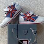 Детские подростковые кроссовки B&G белые с синим