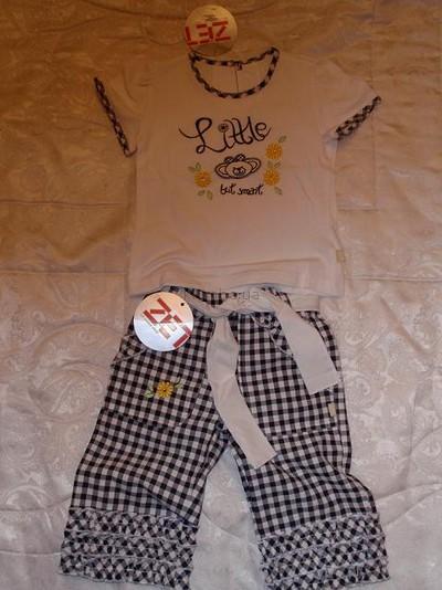 Новые детские комплекты для девочек Zet футболочки, юбочки, брючки