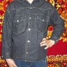 Чорна джинсова сорочка для хлопчика 6-7р.