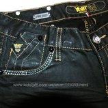 YELL Италия новые джинсы черные с пропиткой и в стразах р.27 XS/S цена снижена