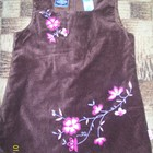 Велюровый сарафан с вышивкой