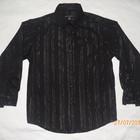 очень классная черная рубашка на 7-8 лет с серебряной нитью