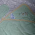 Конверт для купания для новорожденных с рукавичкой