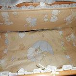 Наборы постельного белья в кроватку с 3-10 предметов.