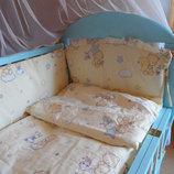 Наборы постельного белья в кроватку с 4-10 предметов.