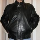 Кожаная муская курточка р L