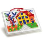 Набор-Для занятий мозаикой квадратные и треугольные фишки 300шт новый Quercetti