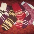 Носки шерстяные вязаные гетры