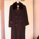 отличное - пальто демисезонное М-L коричневое как новое
