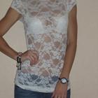 СНИЗИЛА ЦЕНУ Новая гипюровая белая кофта- блуза с коротким рукавом tally weijl