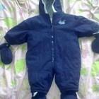 Теплый комбинезон с рукавичками и чепиками 6-12мес