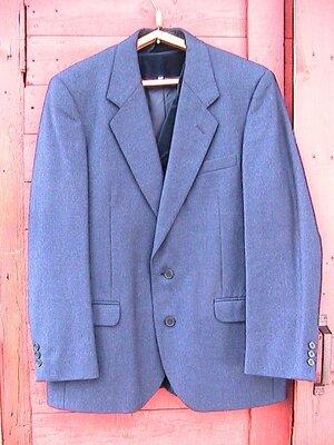 пиджак синий шерстяной Швеция XL