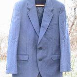 пиджак синий шерсть Швеция XL