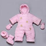 Зимние комбинезоны Мишки-Топтыжки для новорожденных, 62,68