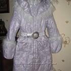 Пальто зимнее пуховое, красивейшее 158р.