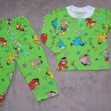 Пижамы теплые новые в наличии на рост 80-86 см