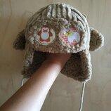 детская зимняя шапка-ушанка