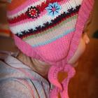Яркая шапка для девочки 2-6 лет.р-р 92 - 119