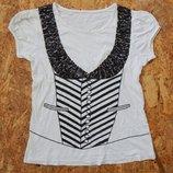 Футболка кофта майка с паетками, размер М-L, с пайетками блуза блузка
