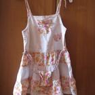 сарафан летний, нарядный для девочки 1-2 года с панамкой