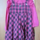 платье нарядное сарафан с кофточкой Польша, на девочке 2-2,5 года в подарок мягкая игрушка