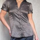 фирменная офисная атласная рубашка Zara