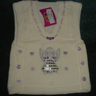 Новая, нежная и нарядная жилетка для малышки