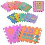 Игровой коврик-пазл «Весёлый алфавит»,цыфры в наличии