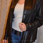 Кожаная куртка-пиджак на осень-весну р. 42-44