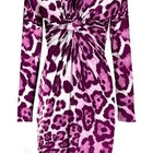 Шикарное леопардовое платье цвета фуксии