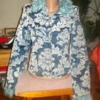 Пальто- Курточка,Голубое, Серое