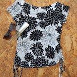 Новая кофта кофточка туника футболка майка, размер M блуза блузка, new look в цветы